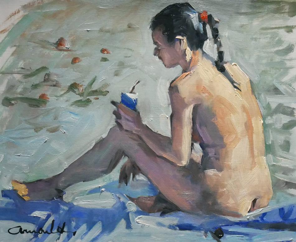Christian Arnould - Alma (huile sur papier 41 x 33)