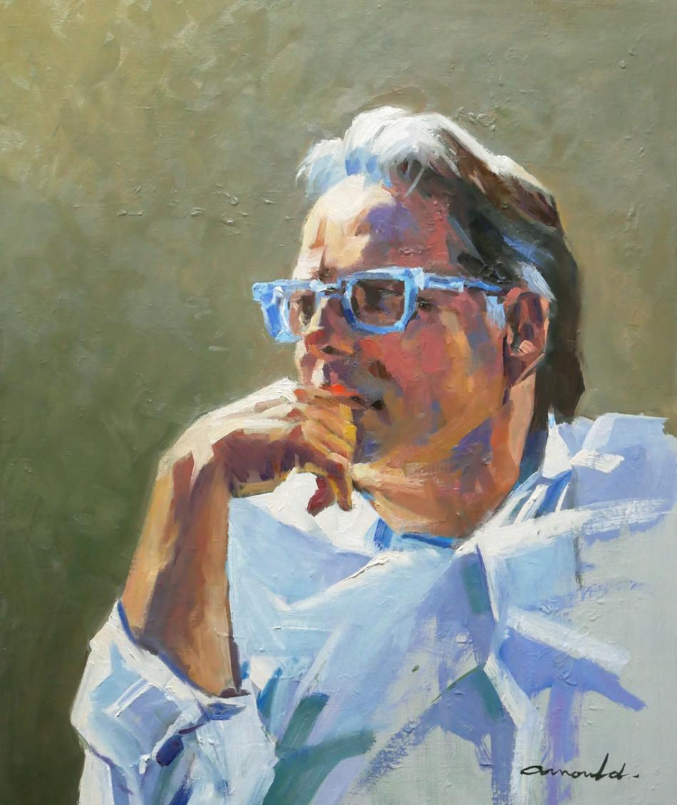 Christian Arnould - Patrick Brune (huile sur toile 55 x 46)