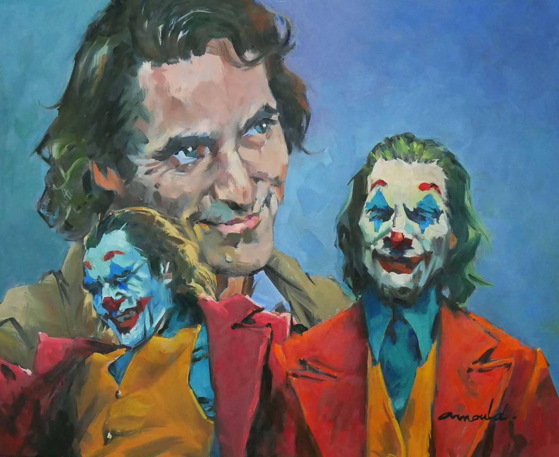 """Christian Arnould - J.Phoenix - D'aprés le film """"Joker""""(huile sur toile 73 x 60)"""