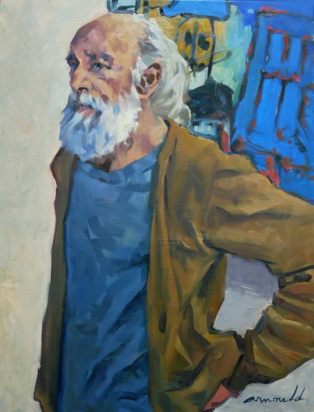 Christian Arnould - Le peintre (huile sur toile 65 x 50)