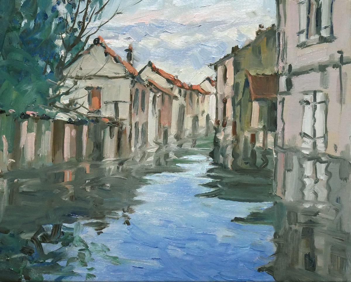 Christian Arnould - Inondations (huile sur toile 41 x 33)
