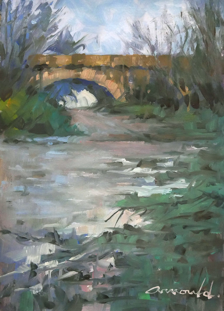 Christian Arnould - L'ancien pont à Flavigny
