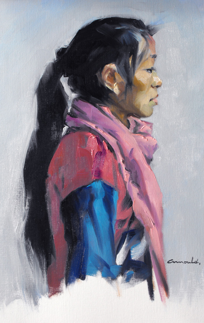 Christian Arnould - Nima (huile sur papier toilé 28 x 46)