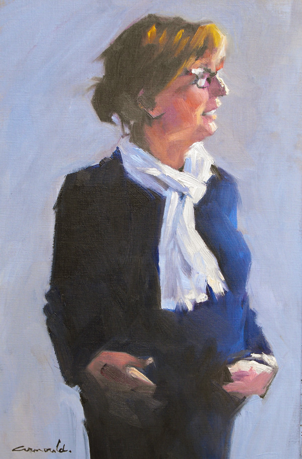 Christian Arnould - Françoise Marie (huile sur papier 41 x 25)