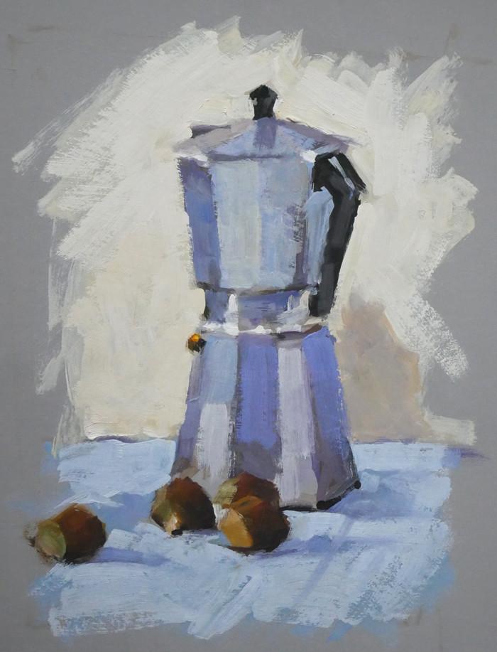 Christian Arnould - Démo pour mes élèves (huile sur carton 41 x 33)