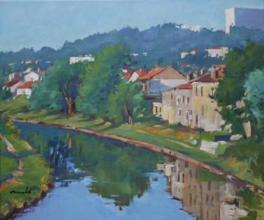 Le canal à Maxéville (huile sur toile 65 x 54)