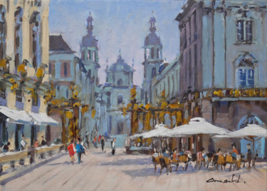 Place Stanislas à Nancy (huile sur toile 46 x 38)