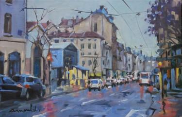 Rue Saint Dizier sous la pluie (huile sur toile 41