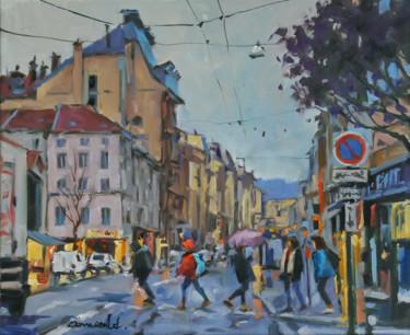 Rue Saint Dizier autrement (huile sur toile 46 x 3