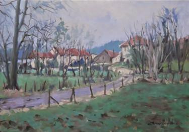 Paysage Lorrain (huile sur toile 55 x 38)