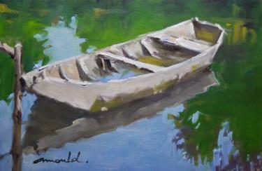 Barque 2 (huile sur papier 27 x 22)