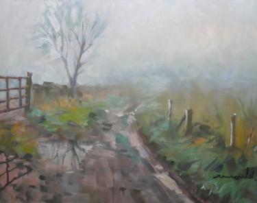 Pluie et brouillard (huile sur carton 35 x 27)