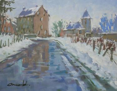 Etude paysage hiver (huile sur carton 41 x 33)
