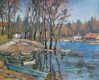 Un étang dans les Vosges (huile sur papier 46 x 38