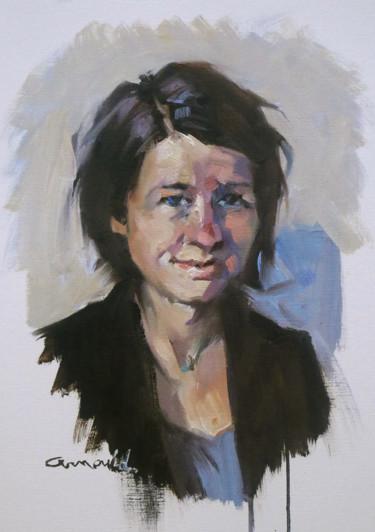 Portrait du matin (Huile sur papier 41 x 33)