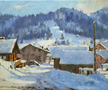 Petit neige (huile sur toile 46 x 38)