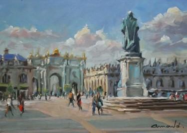 Place Stan à Nancy  (huile sur carton 40 x 30)