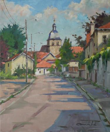 Le Prieuré à Flavigny 2 (huile sur toile 55 x 46)
