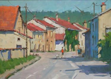 Arrivé à Flavigny (huile sur toile 41 x 33)