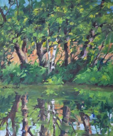 Au bord de l'eau (huile sur toile 65 x 54)