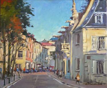 Grande rue à Nancy (huile sur toile 55 x 46)