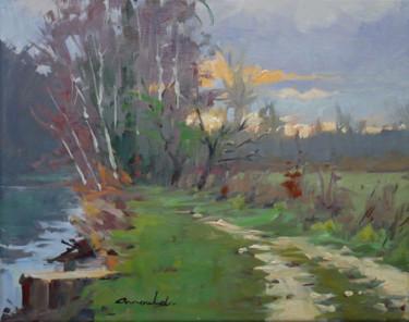 Bord du canal ce matin (huile sur toile 41 x 33)