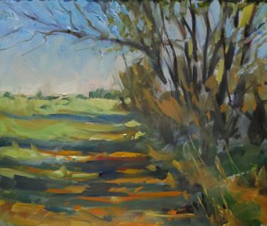 Pochade chemin (huile sur papier 27 x 22)