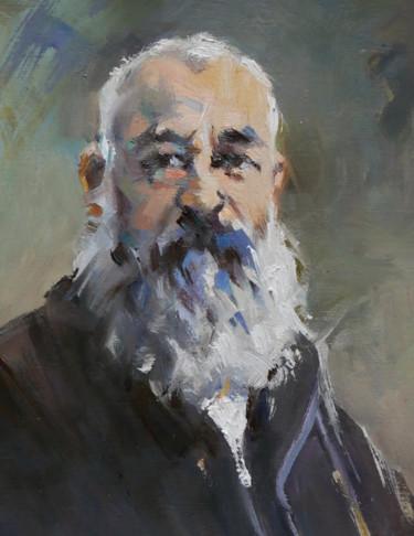 Claude Monet (huile sur papier 16 x 22)