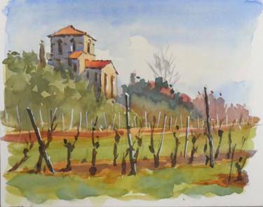Dans les vignes (Aquarelle 24 x 19)