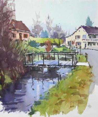 Petit ruisseau (aquarelle 27 x 22)