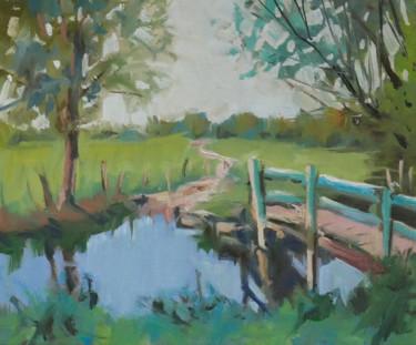 Esquisse de paysage (huile sur papier 24 x 19) #artistsuppor