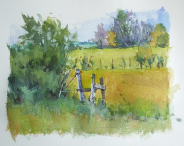Aquarelle sur une photo de Louis Bour