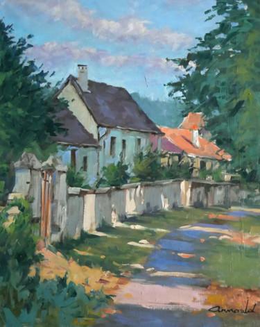 Dans Flavigny ce matin (huile sur toile 61 x 50)