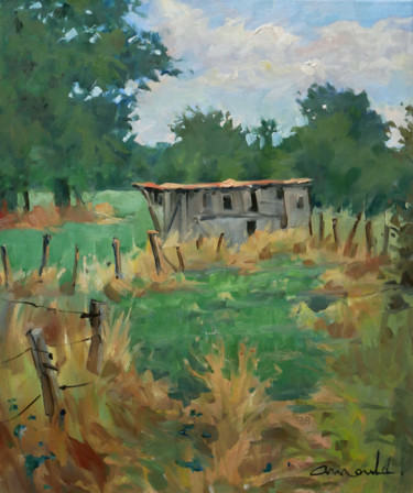 Dans le Saintois (huile sur toile 55 x 46)