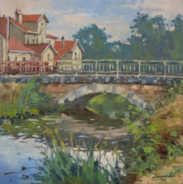 Petit pont à Richardménil (huile 50x 50)