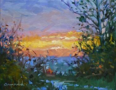 Lever de soleil (huile sur toile 30 x 24)