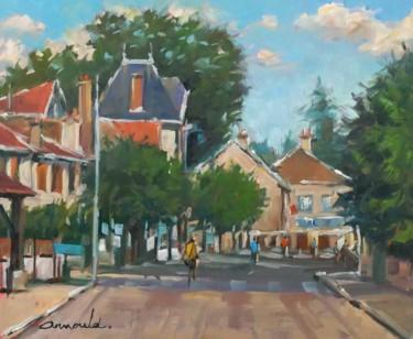 Village du vieux Saint Max (huile sur papier 46 x 38)