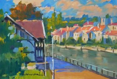Berges de Meurthe à St Max (huile sur carton 28 x 23)