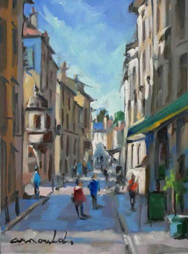 Grande rue à Nancy (huile sur carton 33 x 24)