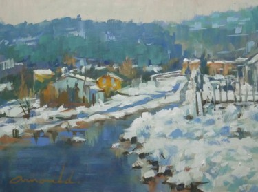 Balade dans les Vosges (huile sur papier 33 x 24)