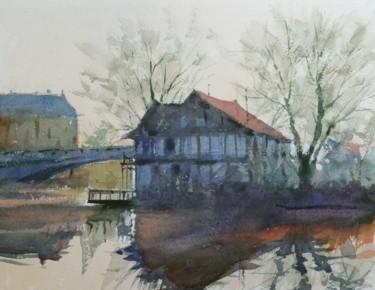 Base nautique de Saint Max (aquarelle 32 x 24)