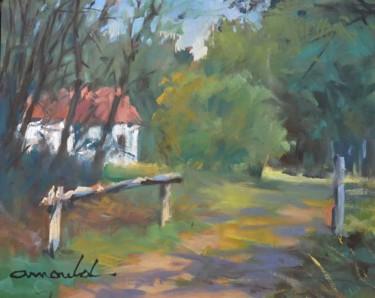La maison blanche (huile sur papier 35 x 27)