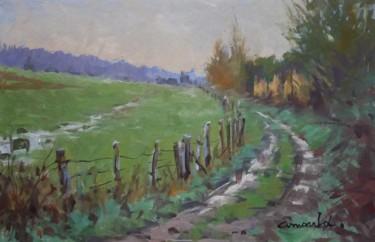 Chemin creux à Bosserville (huile sur carton 47 x 31)