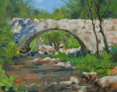 Petit pont (huile sur papier 24 x 30)