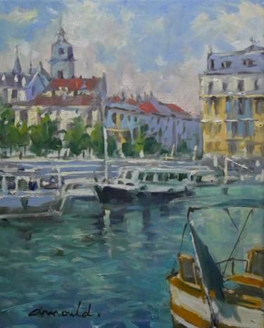 Port à Verdun (huile sur toile 41 x 33)