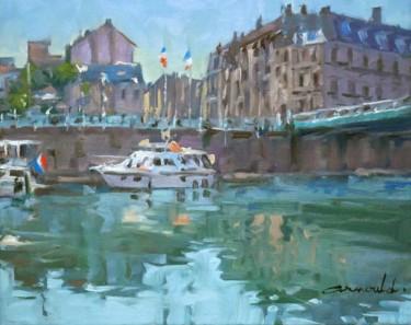 La Meuse à Verdun (huile sur toile 41 x 33)