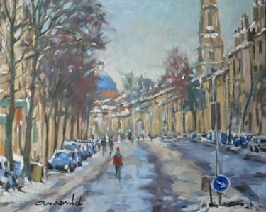 Avenue de Strasbourg à Nancy (huile sur toile 41 x 33)