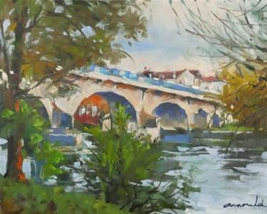 Le pont de Malzéville (huile sur toile 41 x 38)