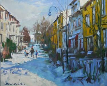 Jour de neige (huile sur toile 46 x 38)