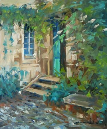 Un bout de jardin me suffit (huile sur toile 46 x 38)